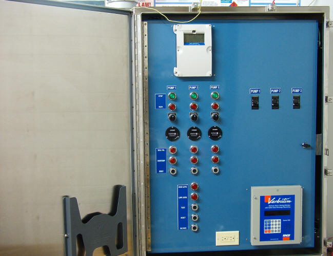 Control Panel Opened, Painted Blue